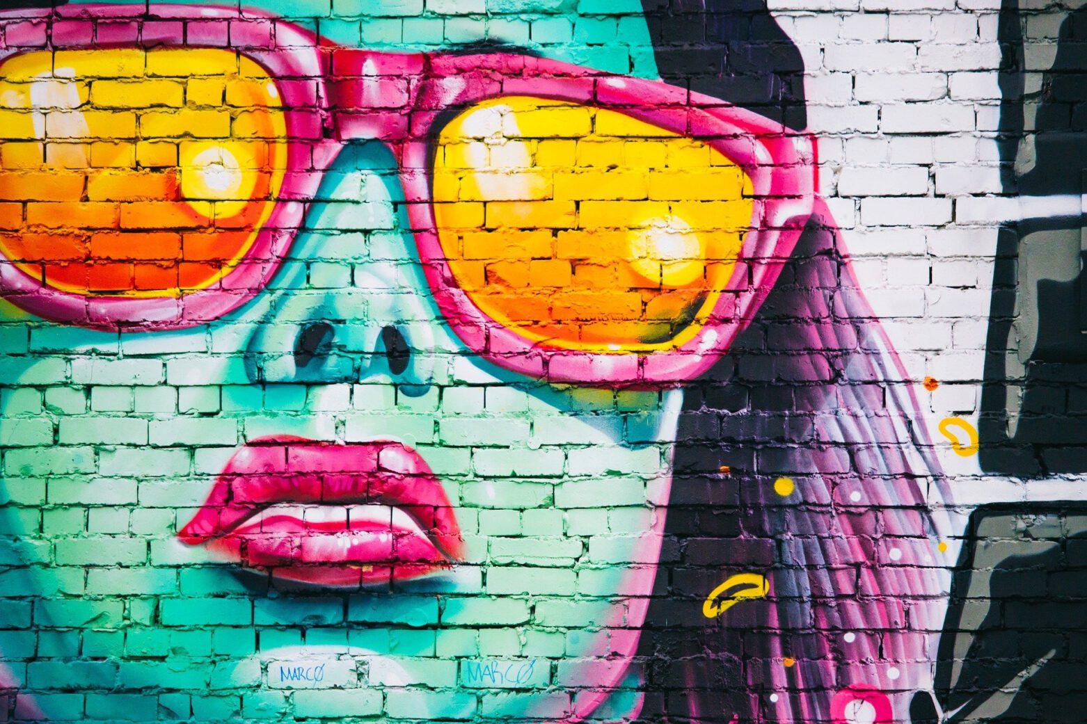 Kreatives Malen im Graffiti-Style